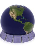 earth and solar panel base