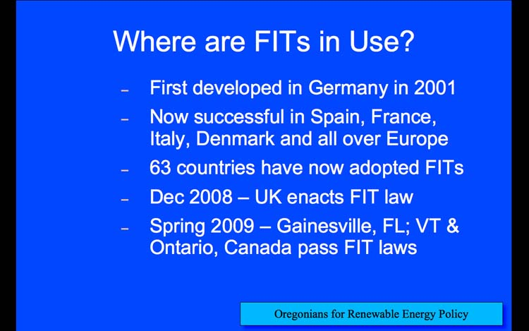 Introduction to Feed-in Tariffs, Slide 11