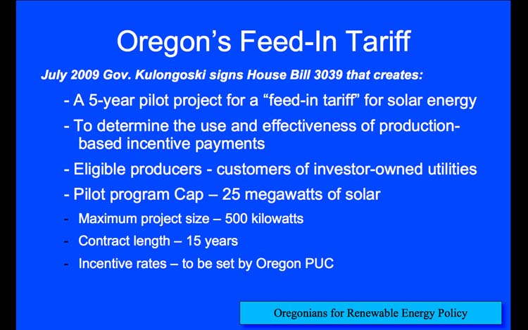 Introduction to Feed-in Tariffs, Slide 12